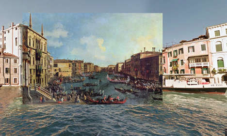 Time-Elapsing Collages - Classic Paintings Meet Google Street View