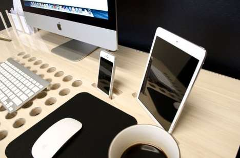 Tech-Integrated Desks - The SlatePro is Perfect for Keeping All Your Tech Neat and Tidy