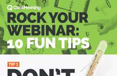 Online Presentation Infographics - ClickMeeting's Graphic Provides 10 Tips for a Successful Webinar