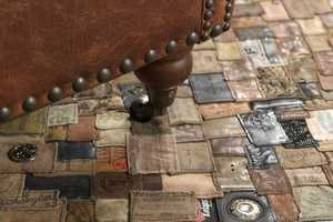 Polytuft's Rug Makes Use of Labels from Recycled Jeans