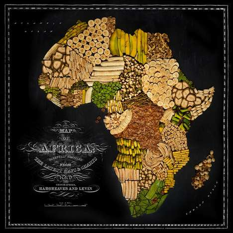 Surreal Food Maps - Unique Maps Made Entirely Of Food