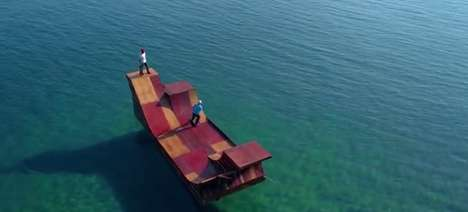 Floating Skate Ramps - This Skate Ramp Is Making a Big Splash in Sunny California