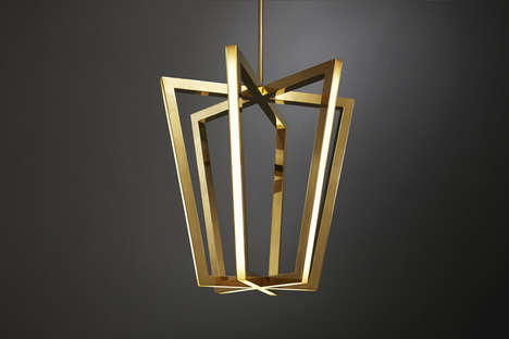 Geometric LED Lamps - The Asterix Pendant Lights Look Like Bulbless Suspended Sculptures