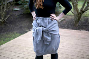 Turn an Ordinary Sweatshirt into an Eclectic Skirt with This Tutorial