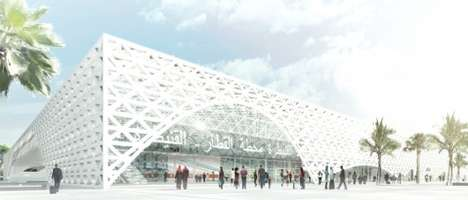 Latticed L-Shaped Stations - The Kenitra TGV Terminal
