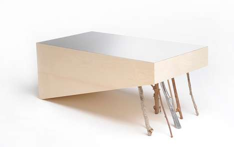 Stick-Supported Tables - DZen Collection Emulates Buddhist Monks