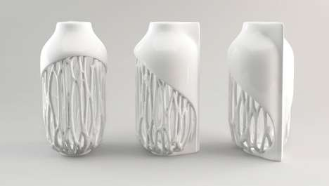 Tremendously Textured Vessels - Ceramic 3D Prints Maintain Their Intricate Surfaces by Compensation