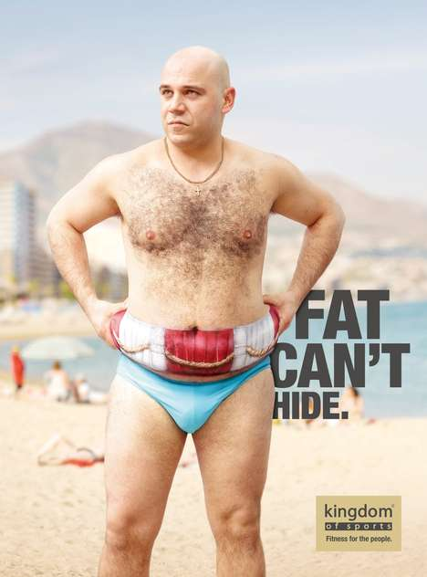 Poorly Disguised Fat Ads - The Kingdom of Sports Campaign Revolves Around Cleverly Painted Bodies