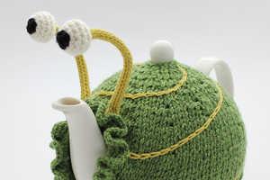 Anke Klempner's Makes Charming Snail-Like Knit Tea Cozy Designs