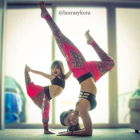 Mother-Daughter Yoga Photography - Instructor Laura Kasperzak Adorably Poses with Her Preschooler