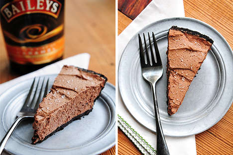 Irish Chocolate Pies - This Baileys Chocolate Pie is a Great Way to Indulge this St. Patrick