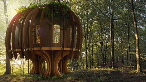 Tranquil Fairytale Treehouses - This Children's Treehouse by Blue Forest is Magical and Peaceful