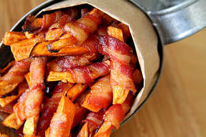 These Bacon Wrapped Fries are Going to Be a Crowd-Pleasing Appetizer