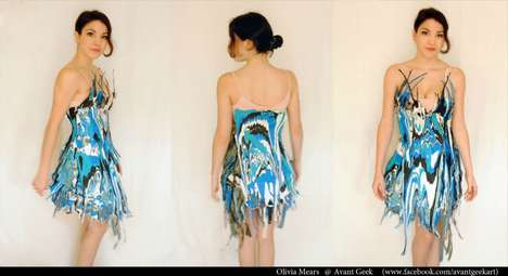Literally Artistic Fashion - The Paint Dress by Olivia Mears is Colorfully Splattered