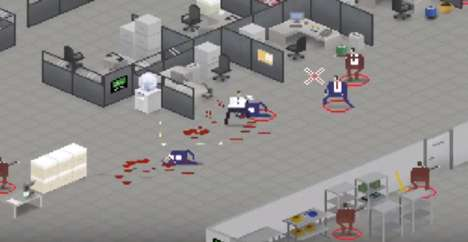 Office-Simulating Video Games - This Pixelated Video Game Allows You to Destroy Your Office