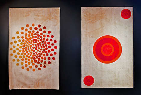 Artistically Translated Carpets - These Silk Rugs are Made From Artists
