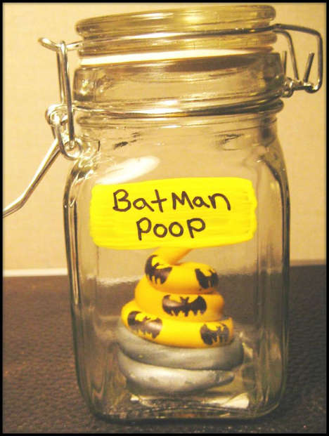 Superhero Waste Sculptures - Michelle Antoni Sells Superhero Poop in a Jar