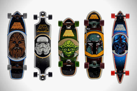 Galactic Skateboards - Santa Cruz Company has Partnered With LucasFilm to Make Star Wars Skateboards
