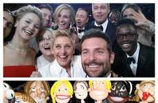 Inflated Oscars Selfie Recreations