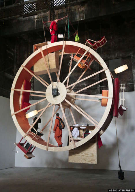 Giant Hamster Wheel Art -