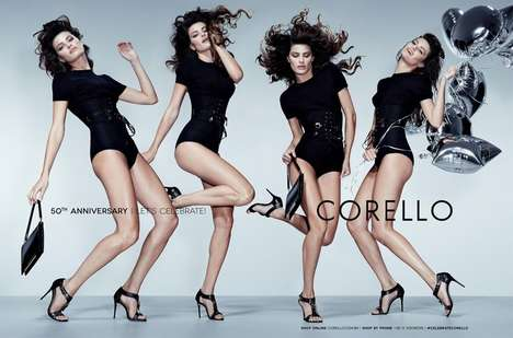 Motion-Filled Fashion Ads - The Corello Fall-Winter 2014 Campaign Stars Multiples of Isabeli Fontana