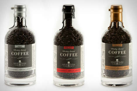 Caffeinated Alcoholic Beverages - Whiskey Barrel Coffee Blends Two Great Flavors for One Tasty Drink
