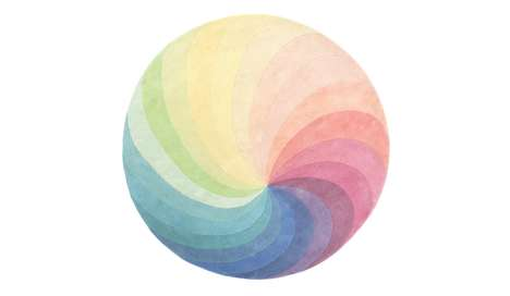 Rainbow Pinwheel Rugs - The Spin Carpets Make Vibrant and Whimsical Additions to a Drab Room