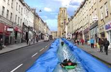 Enormous Urban Water Slides