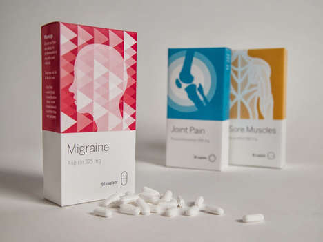Graphically Enhanced Pill Packs - This Pharmaceutical Packaging Concept Illustrates What Ails You