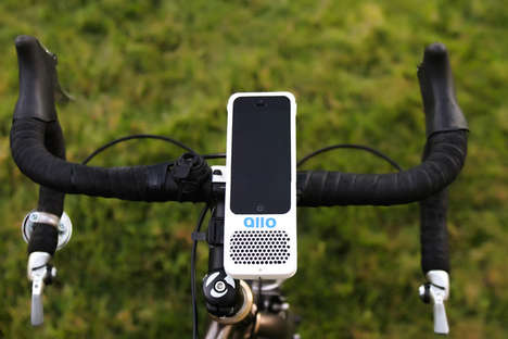 Bicycle Smartphone Mounts - This Device Fuses a Smartphone Holder and Speaker in One Compact Package