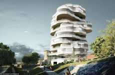 High-Rise Treehouses - The 'White Tree' 17-Storey Apartment Block Resembles the Ultimate Treehouse