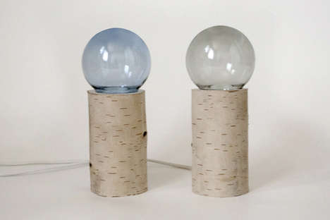 Endearing Arboreal Illuminators - Enchanted Forest Table Light Has a Beautiful Base Made from Birch