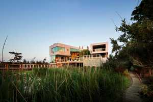 The Bay House by Leroy Street Studio is Situated on a Flood Plain