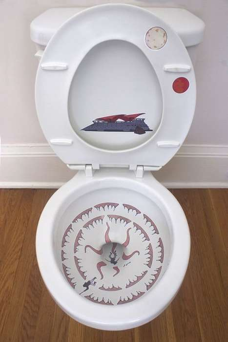 Galactic Toilet Art - Transform Your Toilet into The Sarlacc Pit with These Star Wars Stickers