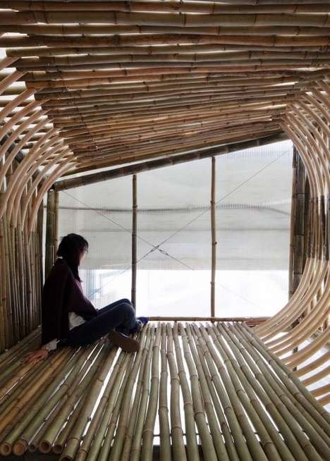 Bamboo Homeless Shelters - These Bamboo Structures Could Provide Housing for Asia