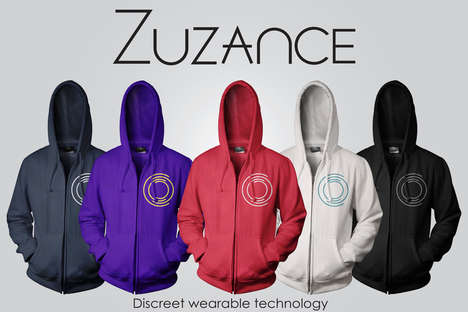 Affordable Tech-Controlling Garments - The Zuzance Hoodie Can Control Your Devices