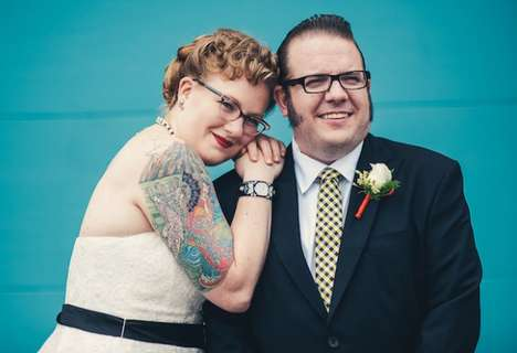 Tattooed Nuptial Photography - Mike Allebach Snaps Pictures of Tattooed Brides on Their Big Day