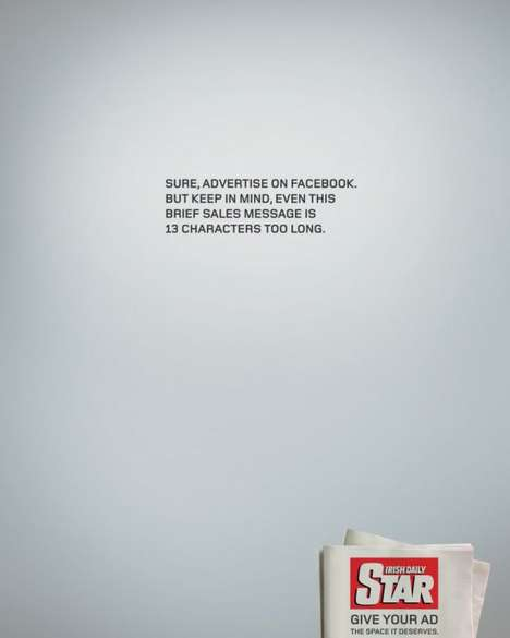 Snarky Newspaper Print Ads - These Newspaper Advertisements Make Fun of Online Ads