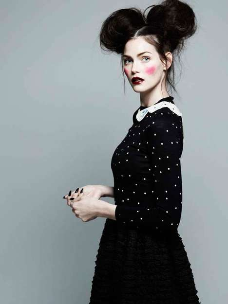 Eclectic Style Fashion Portraits - The Glamour Italia March 2014 Issue Stars Lydia, Mini and More