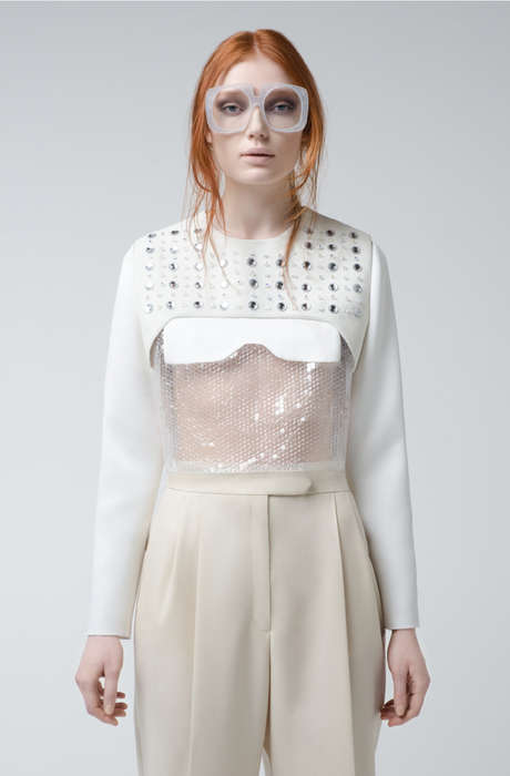 Feminine Minimalist Fashion - The Alberto Zambelli FW14 Collection is Slightly Quirky and Futuristic