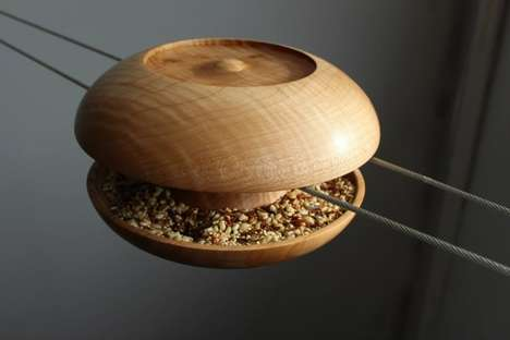 Spool-Like Bird Feeders - Spun by Urbanproduct Provides Food for Feathery Friends