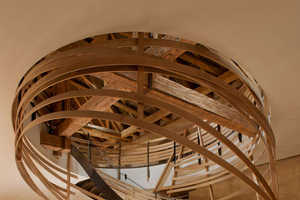 Jouin Manku Designed a Wooden Staircase for a Strasbourg Hotel