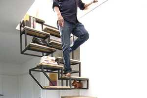 This Staircase Shelf Look Stylish While Also Combining Necessities