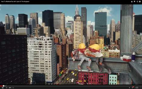 Iconic Puppet Tea Campaigns - This Lipton Tea Ad Stars Kermit the Frog Coping with the Chaos of NYC
