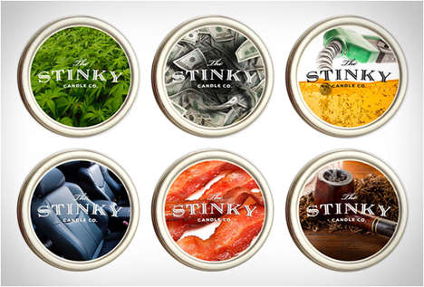 Outlandishly Flavored Candles - The Stinky Candle Company Infuses Everyday Scents into Its Candles
