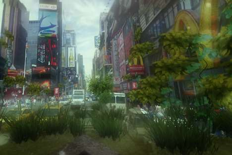Apocalyptic Street View Images - Urban Jungle Street View Fills Google Maps with Endless Plants