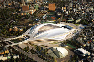 Architect Zaha Hadid Designs The Futuristic Japan National Stadium
