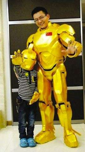 Homemade Superhero Suits - A  Dad Built this Minimalist Iron Man Suit for His Son