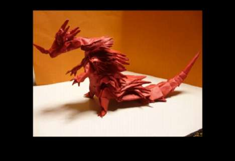 Monstrous Origami Art - These Origami Pieces Depict Creatures from the Monster Hunter Video Games