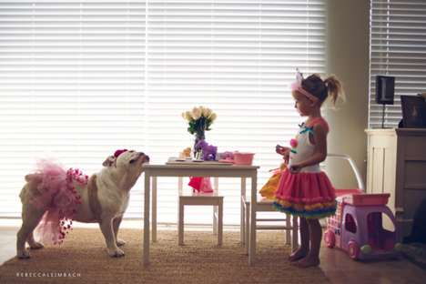 Daughter and Dog Portraits - Photographer Rebecca Leimbach Captures an Adorable Relationship